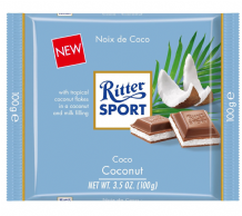 Ritter Sport Coconut Milk Chocolate Bar 100g